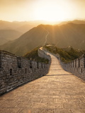 Great Wall of China, UNESCO World Heritage Site, Huanghuacheng (Yellow Flower) at Sunset, Ming Dyna Fotoprint van Kimberly Walker