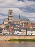 Saint-Cyr-Et-Sainte-Julitte De Nevers Cathedral across the River Loire, Nevers, Burgundy, France, E Photographic Print by Julian Elliott