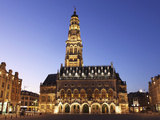 Gothic Town Hall (Hotel De Ville) and Belfry Tower, UNESCO World Heritage Site, Petite Place (Place Photographic Print by Stuart Forster