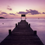 Pier at Dawn, Plage De Santa Giulia, South East Corsica, Corsica, France, Mediterranean, Europe Photographic Print by Stuart Black