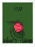 Roland Garros, 1980 (green) Limited Edition by Valerio Adami