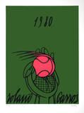 Roland Garros, 1980 (green) Begränsad utgåva av Valerio Adami