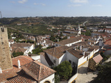 Rooftops in the Medieval Walled Town known as the Wedding City, Obidos, Estremadura, Portugal, Euro Photographic Print by Stuart Forster