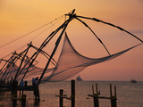 Chinese Fishing Nets, Cochin, Kerala, India, Asia Photographic Print by  Tuul
