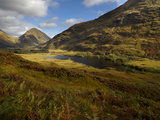 Beautiful Autumn Light in Glen Etive, Argyll, Scotland, United Kingdom, Europe Photographic Print by Jon Gibbs