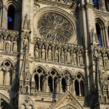 Detail of West Front, Notre Dame Cathedral, UNESCO World Heritage Site, Amiens, Picardy, France, Eu Photographic Print by Stuart Black