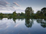 An Almost Mirror Reflection in the River Cher Near Villefranche-Sur-Cher, Centre, France, Europe Photographic Print by Julian Elliott