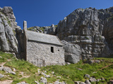 St. Govan's Chapel, St. Govan's, Pembrokeshire, Wales, United Kingdom, Europe Photographic Print by David Clapp