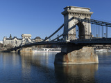 Chain Bridge and Danube River, UNESCO World Heritage Site, Budapest, Hungary, Europe Photographic Print by Stuart Black