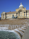 Fountain known as the Floozy in the Jacuzzi and the Council House, Victoria Square, Birmingham, Wes Fotografie-Druck von Chris Hepburn