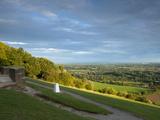 Viewpoint on Box Hill, 2012 Olympics Cycling Road Race Venue, View South over Brockham, Near Dorkin Fotoprint van John Miller