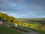 Viewpoint on Box Hill, 2012 Olympics Cycling Road Race Venue, View South over Brockham, Near Dorkin Photographic Print by John Miller