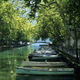 Boats Along Canal, Annecy, Lake Annecy, Rhone Alpes, France, Europe Photographic Print by Stuart Black