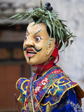 Monk Wearing Wooden Mask During Traditional Performance, Wangdue Phodrang Tsechu, Wangdue Phodrang  Photographic Print by Lee Frost