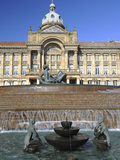 Fountain known as the Floozy in the Jacuzzi and the Council House, Victoria Square, Birmingham, Wes Photographic Print by Chris Hepburn