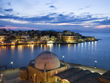Venetian Harbour and Mosque of the Janissaries at Dusk, Chania (Hania), Chania Region, Crete, Greek Photographic Print by Stuart Black