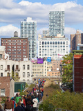 People Walking on the High Line, a One-Mile New York City Park on a Section of Former Elevated Rail Photographic Print by Gavin Hellier