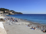 Beach, Nice, Alpes Maritimes, Cote D'Azur, French Riviera, Provence, France, Europe Photographic Print by Wendy Connett
