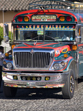 Chicken Bus, Antigua, Guatemala, Central America Photographic Print by Ben Pipe