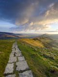 The Great Ridge Pathway, Mam Tor, Hope Valley, Castleton, Peak District National Park, Derbyshire,  Photographic Print by Chris Hepburn