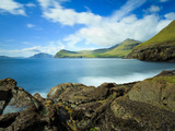 Coastal Scenery with the Vagafjordur and Streymoy Island in the Background, Village of Sydradalur,  Photographic Print by Kimberley Coole