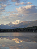 Mount Edith Cavell Reflected in Pyramid Lake, Early Morning, Jasper National Park, UNESCO World Her Photographic Print by Martin Child
