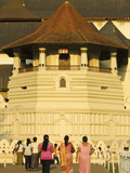 The Temple of the Sacred Tooth Relic (Temple of the Tooth) at Sunset, Site of Buddhist Pilgrimage,  Photographic Print by Rob Francis