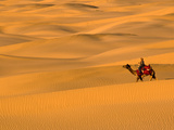 Sam Sand Dunes, Rajasthan, India, Asia Fotografie-Druck von Ben Pipe