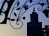 Minaret of the Koutoubia Mosque at Sunset, Marrakesh, Morocco, North Africa, Africa Photographic Print by Frank Fell