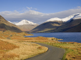 The Road Alongside Wastwater to Wasdale Head and Yewbarrow, Great Gable and the Scafells, Wasdale,  Photographic Print by James Emmerson
