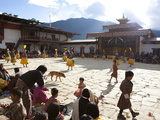 Masked Dance in the Main Courtyard of the Gangte Goemba During the Gangtey Tsechu, Gangte, Phobjikh Photographic Print by Lee Frost