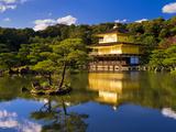 Kinkaku-Ji (Temple of the Golden Pavilion), Kyoto, Japan, Asia Fotografisk tryk af Ben Pipe