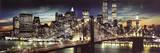 New York City - Manhattan Night Plakáty