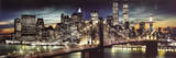 New York City - Manhattan Night Prints