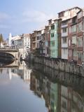 Midieval Houses, Agout River, Quai Des Jacobins, Castres, Midi-Pyrenees Region, France Photographic Print by Walter Bibikow