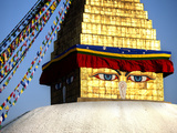 Close-Up of Bodhnath Stupa (Boudhanth) (Boudha), One of the Holiest Buddhist Sites in Kathmandu, UN Photographic Print by Lee Frost