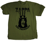 Frank Zappa - For President (Olive) Shirts