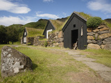 Sod Roofed and Walled Storage and Work Shops, Skogar Folk Museum, Coast of South Iceland Photographic Print by Dave Bartruff