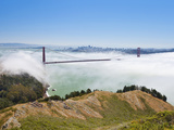 Golden Gate Bridge and the San Francisco Skyline Floating Above the Fog on a Foggy Day in San Franc Photographic Print by Gavin Hellier