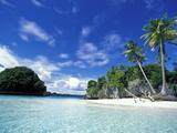 Bay of Honeymoon Island, World Heritage Site, Rock Islands, Palau Fotoprint van Stuart Westmoreland