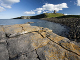 The Ruins of Dunstanburgh Castle in the Distance from Greymare Rock on a Sunny Summer's Afternoon,  Photographic Print by Lee Frost