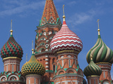 Saint Basils Cathedral, Red Square, Moscow, Moscow Oblast, Russia Photographic Print by Walter Bibikow