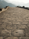 Animal Print in the Road, Great Wall of China, UNESCO World Heritage Site, Huanghua Cheng (Yellow F Photographic Print by Kimberly Walker