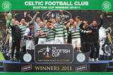 Celtic FC Scottish Cup Winners 2011 Poster