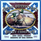 Dixie Outfitters Duck Decoy Company Hunting Tin Sign