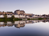 Looking Down the River Loire Towards the Town and Chateau of Amboise, UNESCO World Heritage Site, A Photographic Print by Julian Elliott