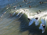 Memorial Paddle Out in Remembrance for Professional Surfer Andy Irons, Huntington Beach, Usa Photographic Print by Micah Wright