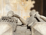 Stone Effigies of Queen Leonor of Aragon, Died 1485, and King Duarte, 1391-1438, Batalha Abbey, UNE Photographic Print by Stuart Forster