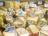 Cheese and Wine for Sale at Market, Florence, Tuscany, Italy Photographic Print by Rob Tilley
