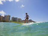 Surfer, Waikiki Beach, Honolulu, Oahu, Hawaii, Usa Photographic Print by Douglas Peebles